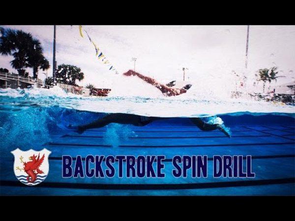 背泳ぎの腕の回転スピードを上げる為のドリル