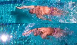 背泳ぎの手を真っ直ぐにするために意識すべきポイント